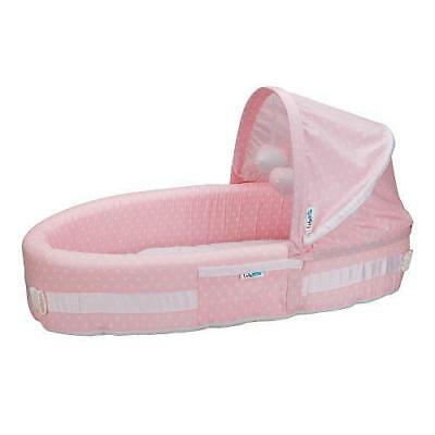 Lulyboo Baby Lounge and Travel Bed To-Go - Pink Dots