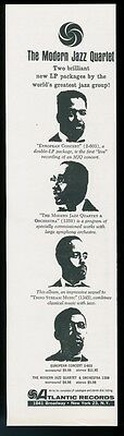 1961 Modern Jazz Quartet portraits Atlantic Records vintage print ad
