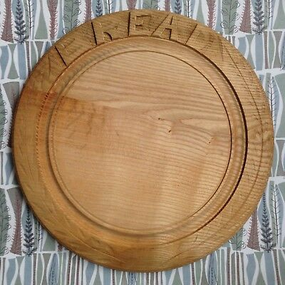 Carved Wooden Bread Board - Bramhall Woodware Limited of Sheffield
