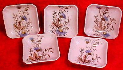Antique Porcelain Butter Pats Set of 5 Marked, French or German , p140