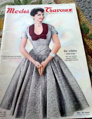 VTG 1950s PARIS DESIGNER FASHION SEWING PATTERN CRAFT MAGAZINE Modes et Travaux