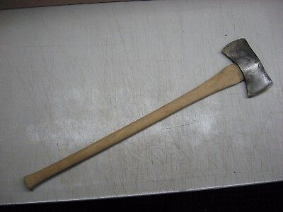 Vintage Antique Keen Kutter Double Bit Axe With Gem Hartwell Hickory Wood Handle