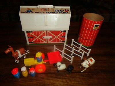 VIntage Fisher Price Little People Family Play Farm & Accessories