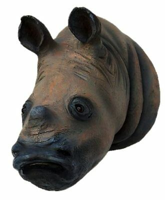 Rhinoceros Head Wall Mount Desplay Resin Prop Decor Wild Animal Rhino Africa