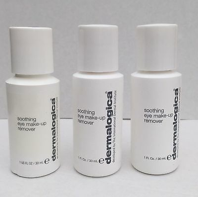 New Brilliant Dermalogica soothing eye make-up remover 3 X 30ml Travel Size