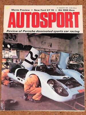 Autosport 21/1/71* SPORTS CAR RACING REVIEW - FORD GT70 - MONTE CARLO RALLY