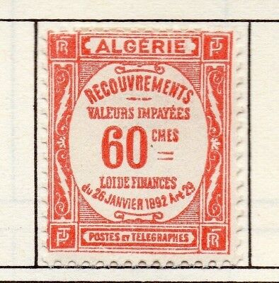 Algeria 1926-43 Early Issue Fine Mint Hinged 60c. 170497