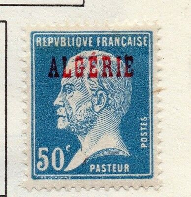 Algeria 1924 Early Issue Fine Mint Hinged 50c. Optd 170521