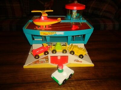 VIntage Fisher Price Little People Play Family Airport & Accessories