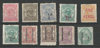 Tonga Sg10,11,15,16,17,19,21-24 Qv 1892-4 Mint Or Unused Cat £242+