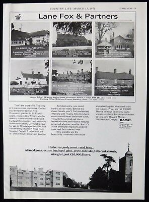 Ivy House Mapledurwell Minden Cottage Preston Rookery Addersbury Etc Advert 1975