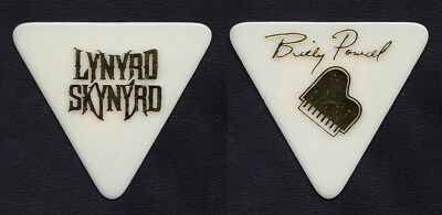 Lynyrd Skynyrd Billy Powell Signature White Guitar Pick - 2008 Tour