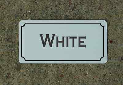 WHITE Metal Sign Vintage Style for Wine Cellar Cave or Collection or Kitchen