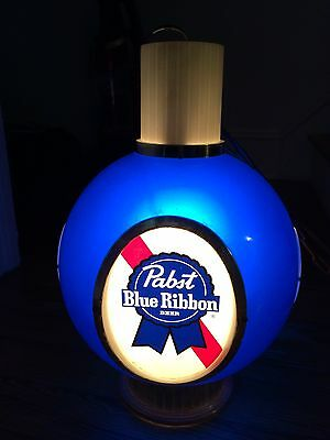 """Pabst Blue Ribbon Lighted Sign Bar Playing Card Table Vintage PBR Works!! 18"""""""