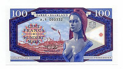 SAAR / SAARLAND 100 Francs [2017] - A  Crisp UNC Private Issue Banknote