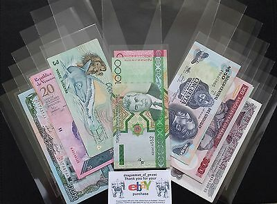 25 BRAND NEW SLEEVES - Acid-Free Banknote Sleeves. 85mm x 170mm..