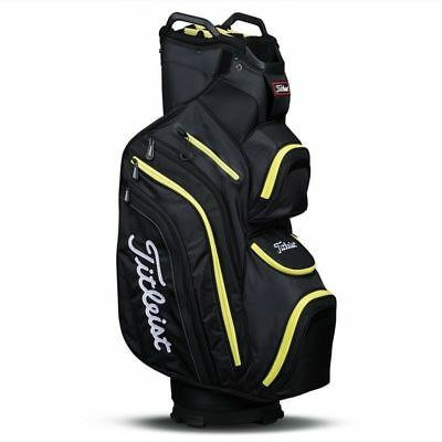 NEW 2017 Titleist Deluxe Golf Cart Bag Black Lime TB6CT6-03 14 Way Divider