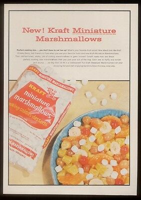 1955 YUM! Kraft mini marshmallows photo print ad
