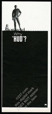 1963 Paul Newman pic Hud movie release vintage print ad