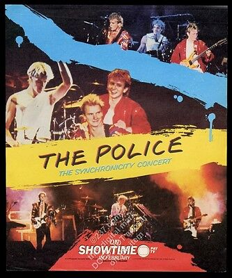 1984 The Police concert photo Showtime vintage print ad