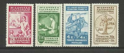 TURKEY ~ 1935 INTERNATIONAL WOMEN'S ALLIANCE 12th CONGRESS (PART MINT SET)