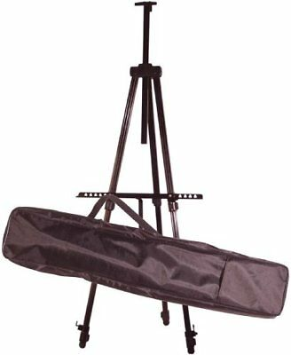 """Adjustable Height Aluminum Field Easel Holds 55"""" Canvas w/ Nylon Carrying Case"""