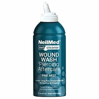 Neilcleanse Wound Wash Piercing Aftercare - No Burning Or Stinging (6 oz)