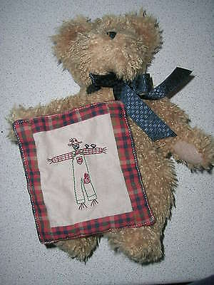 Lovely Boyds Bear 'abner Harbestbeary' With Quilt Harvest Bnwt Last One
