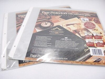 Scrapbook Pocket Page Protectors with Extension Posts 12x12 Lot 2 Packs of 10