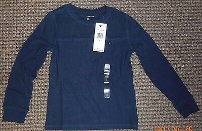 TOMMY HILFIGER NAVY LONG SLEEVE SHIRT, New with Tags!  SIZE:  SMALL (6-7)