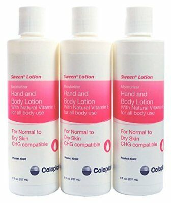 Coloplast Sween Bestselling Hand & Body Moisturizing Lotion - 3 Pack 8 Oz Bottle