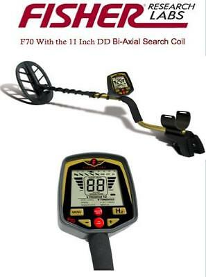 $889 Fisher F70 Metal Detector with 11 Inch DD Search Coil Plus More