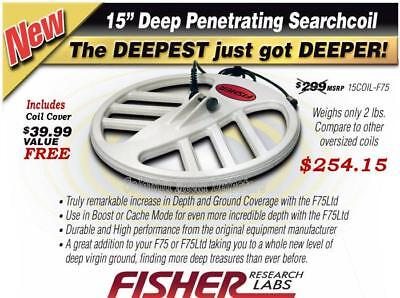 """$299 Fisher 15"""" DD Search Coil for F70 and F75"""