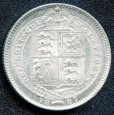1887 Great Britain 1 Shilling Coin (5.6552 Grams .925 Silver)