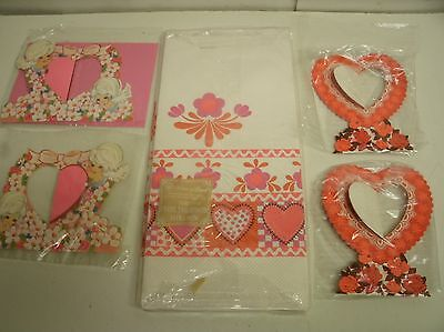 Vintage Valentine's Day Crepe Paper Tablecloth & Table decor