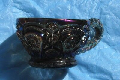 Fashion...punch cup...scarce smoke color--GE...vintage carnival glass