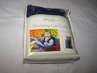 Eddie Bauer Shopping Cart Cover; NIP; Blue/White; Folds Into Attached Tote