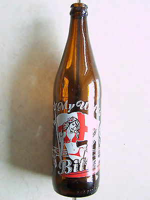 My Wife's Is Bitter 650ml Beer Bottle Empty Bottle English Bitter Burleigh Brew