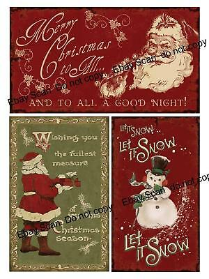 Vintage Christmas Signs  Collage Sheet     B35