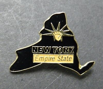 New York Ny Us State Map Empire State Lapel Pin Badge 3/4 Inch