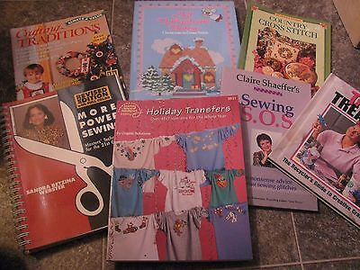Lot of 7 SOFT COVER BOOKS SEWING, CROSS STITCH, CRAFTS, MORE POWER SEWING ETC