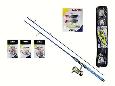 Wilson Rigged 'N Ready 7ft Soft Plastics Combo with Braid,Rigs and Lures