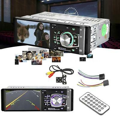 """1Din 4.1"""" Car Stereo Radio MP4 MP5 Player FM BT USB TF AUX IN with Rear Camera"""