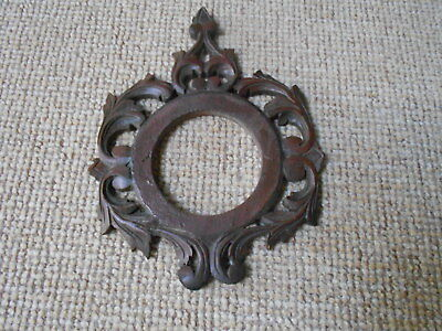 French Antique Black Forest WOOD CARVED wall Plaque Pediment