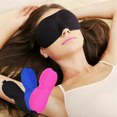 Cotton Sleep 3D Eye Mask Cover Shield Rest Blindfold Office Travel Camping Home