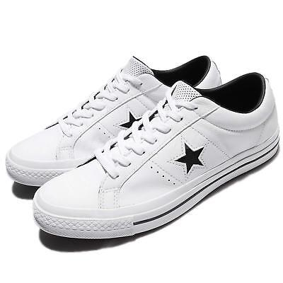 Converse One Star Leather White Black Men Skateboarding Shoes Sneakers 158464C