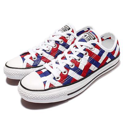e3b631aa09ac Converse Chuck Taylor All Star White Blue Red Woven Men Casual Shoes 151241C