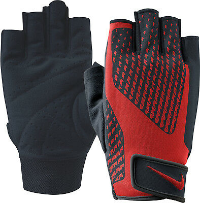 Nike Core Lock 2.0 Mens Weight Lifting Training Gym Workout Gloves - Red