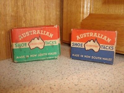 Vintage AUSTRALIAN SHOE TACKS Collectable Boxes - Made in NSW