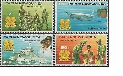 Papua New Guinea 1981 DEFENCE FORCE (4) Unhinged Mint SG 408-11